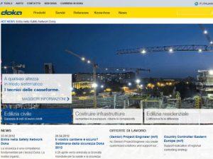 Doka presenta il nuovo sito internet e nuovi servizi online