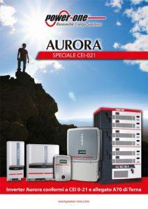 Power-One. Inverter Aurora conformi a CEI 0-21 e allegato A70 di Terna