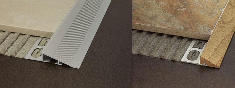 Lavori in casa posare un pavimento nuovo su un pavimento esistente - Le piastrelle del pavimento di un locale ...