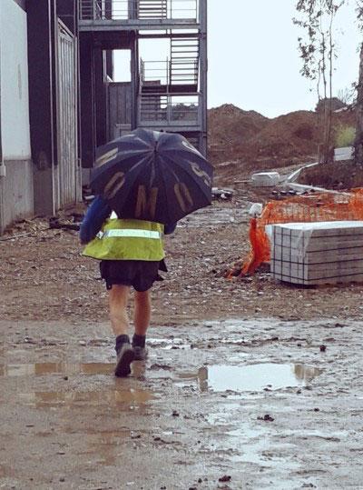 #Rischincantiere, un inglese a Roma (foto di Maria Teresa Caligiuri)
