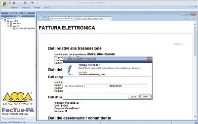software fatturazione elettronica firma digitale