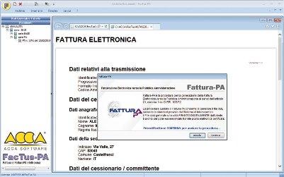 software fatturazione elettronica procedura guidata