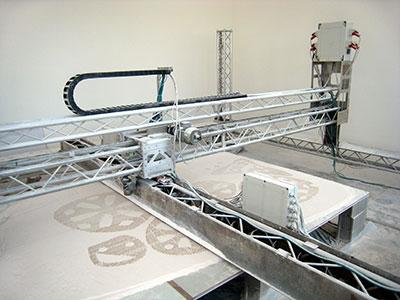 Fig. 2. Radiolaria, una struttura monolitica a forme libere disegnata dall'architetto Andrea Morgante – Shiro Studio – e stampata in 3D nel 2008 a Londra in collaborazione con Dinitech (foto per gentile concessione di Shiro Studio)