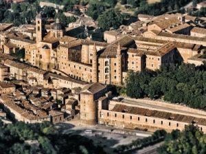 Veduta della città di Urbino
