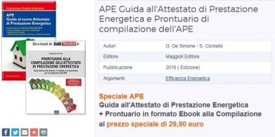 Acquista a prezzo speciale il pacchetto Manuale APE e Prontuario per la compilazione