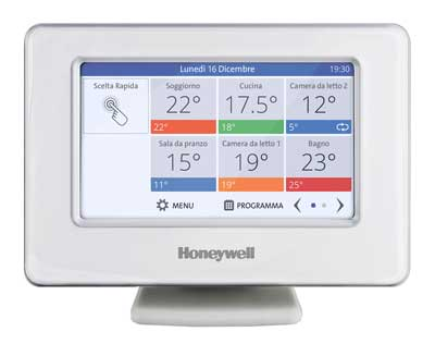 Centralina Wireless Evohome di Honeywell