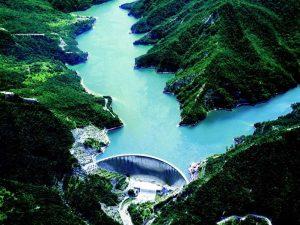 Sistema Ridracoli - Foto aerea della diga