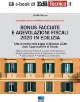 BONUS FACCIATE E AGEVOLAZIONI FISCALI 2020 IN EDILIZIA