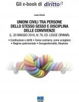 UNIONI CIVILI TRA PERSONE DELLO STESSO SESSO E DISCIPLINA DELLE CONVIVENZE (CD. LEGGE CIRINNÀ)